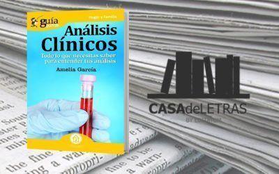 El «GuíaBurros: Análisis Clínicos» en el medio Casa de Letras